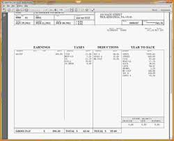 Check Stub Template Word Free Blank Format Payicrosoft