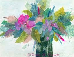 on tissue paper flowers wall art with floral collage art print tissue paper in beautiful colors
