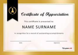 Certificate Of Appreciate Certificate Of Appreciate Free Appreciation Templates And
