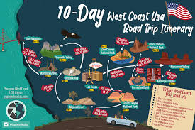 Best Itinerary for a West Coast USA self drive holidays: 10-day road ...