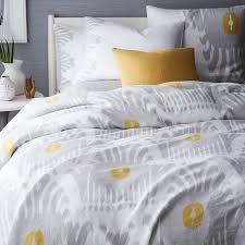 gray and yellow duvet set the duvets linen bedding west elm