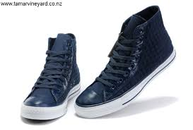 new extremely blue all star with leather edge high top canvas shoes converse high uk mens converse tops innovative design cgjkls2689