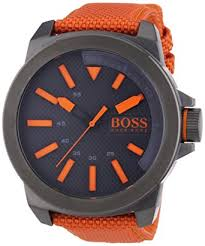 hugo boss orange new york men s quartz analogue classic orange hugo boss orange new york men s quartz analogue classic orange nylon strap 1513010
