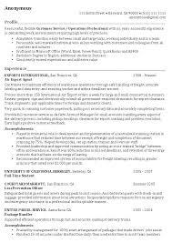 Job Profile Resume Samples