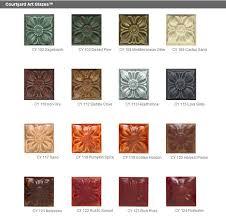 Duncan Concepts Color Chart Clayworld Duncan Courtyard Art Glazes 4 Oz