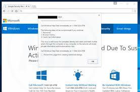 call windows help desk immediately virus