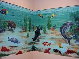 Aquarium Mural Design 2 Wall Aquarium Mural Mural Painting Painting Wall Murals