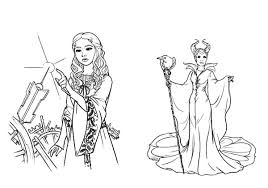 Small Picture Maleficent and Her Evil Plan to Princess Aurora Coloring Pages