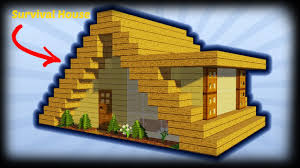 minecraft how to build a small a frame house tutorial easy survival minecraft house