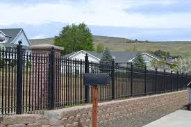 Small Picture Black Metal Fence Black Metal Fence Farm Field Avenue Of Horse