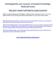 Desktoppaintscom Coupon By Greg Cares Issuu