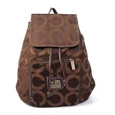 Coach Classic In Signature Medium Coffee Backpacks EJB