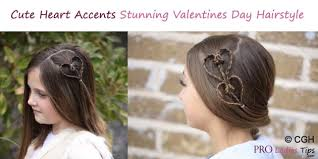 cute heart accents stunning valentines day hairstyle