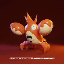 ArtStation - Pokemon corphish 3D, HatDe Pictures