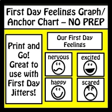 First Day Jitters Graph Anchor Chart No Prep