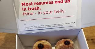 Fake Resumes New Fake Delivery Driver Brings Doughnuts With Resumes In Box To