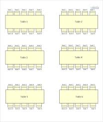 free table seating plan template for round tables chart
