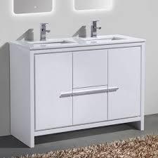 bosley 48 double sink modern bathroom vanity