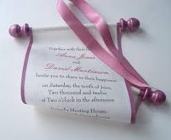 minimal wedding invitation scroll invitation wedding invitation scrolls pink and cream linen fabric set of 10
