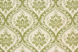 1960s Vintage Wallpaper Green Damask ...