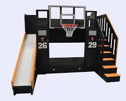 bunk bed with slide and desk. This Is The Ultimate Basketball Bunk Bed! Includes A Staircase, Slide, Bed With Slide And Desk L
