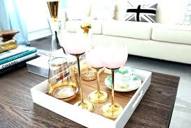 Decorating An Ottoman With Tray Decorative Trays For Ottomans Astounding Brown Mirrored Coffee Table 94