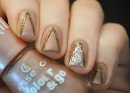 White Rose Nail Design Nails World White And Gold Rose Nail Design On We Heart It