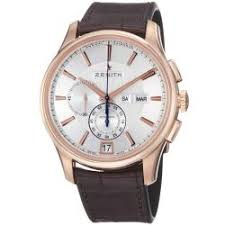 zenith men s watches shop the best deals for 2017 zenith men s 18 2070 4054 02 c711 class winsor rose gold leather