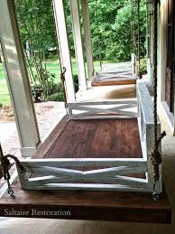 front porch furniture ideas. Amazing White Wooden Rustic Long Hanging Chairs And Cool Pillars Veranda As Patio Decorating Front Porch Furniture Design Ideas | Dogs