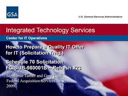Gsa Fas Organization Chart Integrated Technology Services