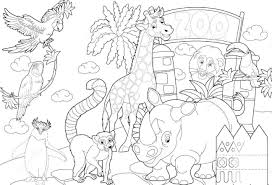 Zoo Coloring Page Coloring Page Zoo Pages Pdf And Activities ...