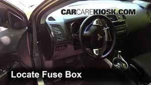 interior fuse box location 2011 2016 mitsubishi outlander sport 2007 mitsubishi outlander cigarette lighter fuse at 07 Mitsubishi Outlander Inside Fuse Box Location