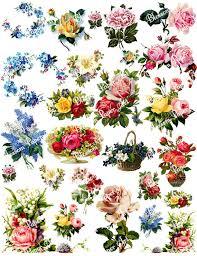 vintage flower sheets vintage flowers digital collage sheet decoupage printables