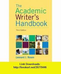best academic writers ideas economic statistics  academic writers handbook 3rd edition 9780205717613 leonard j rosen isbn