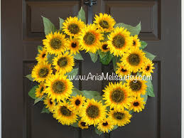 summer wreath fall wreath sunflowers outdoor wreaths for front