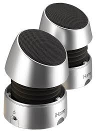 speakers mini. amazon.com: ihome ihm79sc rechargeable mini speakers (silver): home audio \u0026 theater f