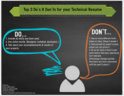 Resume Don Ts Top 24 Do's And Don'ts For Your Technical Resume Client Resources Inc 2