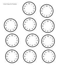 blank clock worksheets – streamclean.info