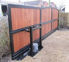 double fence gate. Gate And Fence Automation Systems Driveway Openers Auto System Double Solar