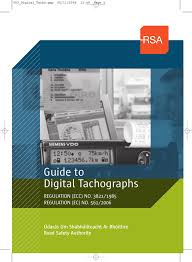 One Tachograph Chart Covers A Period Of Guide To Digital Tachographs