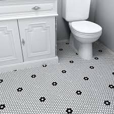 SomerTile 9.875x11.5-in Victorian Penny 3/4-in Matte White Black Flower  Porcelain Mosaic Tile (Pack - Free Shipping Today - Overstock.com - 13324317