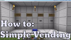 Fed X Gaming Vending Machine Interesting Simple Vending Machine Easy Redstone YouTube