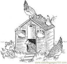 Small Picture Hen house coloring page Free Printable Coloring Pages birds