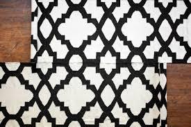 taluche handmade 9 long black and white moroccan wool runner rug carpet