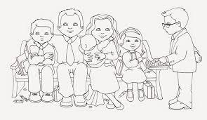 sacrament coloring pages. Interesting Sacrament Sacrament Family Illustration U0026 Coloring Page  Illustration Inside Pages