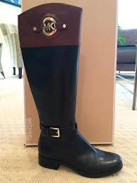 michael kors brown black mocha boots image 0