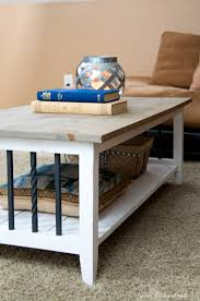i love this simple rustic open shelf coffee table create the perfect place to