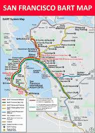 san francisco bart map  lines stations and interchanges