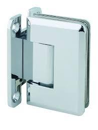mont hard wall to glass bevelled shower hinge in polished chrome finish for frameless heavy glass shower doors