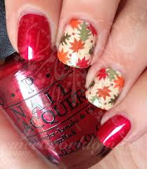 nail designs for fall 2014. autumn nail art fall leaves full water wraps slides designs for 2014 e